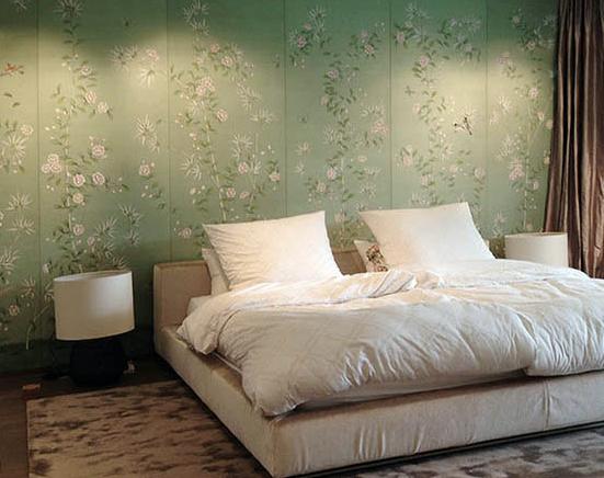 beautiful details spring bamboo garden silk wallcoverings on terra verde background