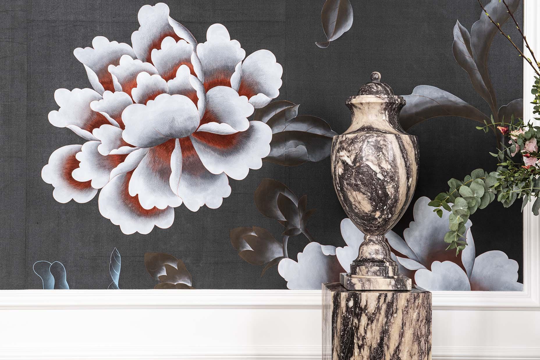 paris deco off event with emblem paris shows chinoiserie wallpaper