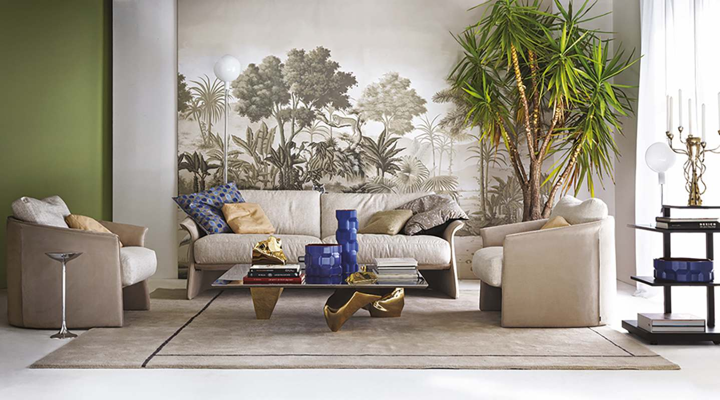 monochrome wallcoverings for driade with safari design from tour des voyages collection for living room