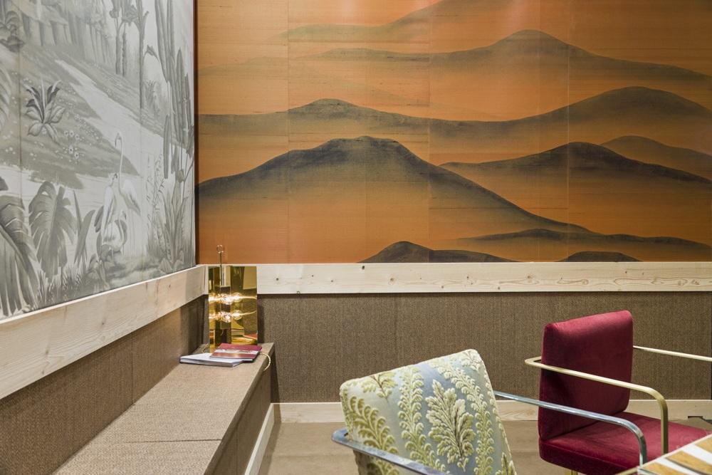 masion objet 2018 paris fair with oriental mountain wallpaper