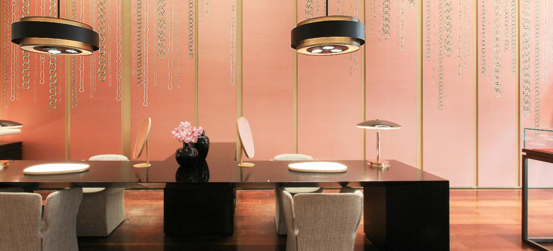 progetto personalizzato per showroom pomellato a milano
