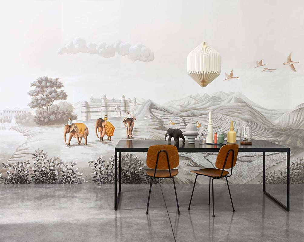 Beautiful inspiration of grand tour wallcoverings for living room with silk wallpaper photo Davide Lovatti