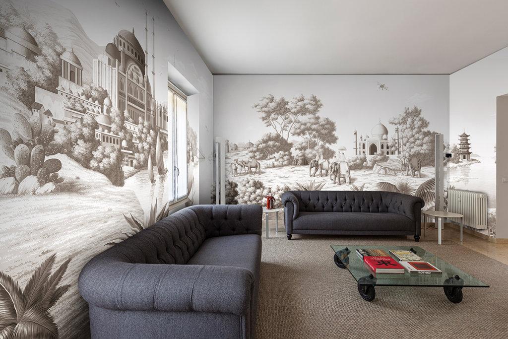 Printed wallpaper Brunaille colour