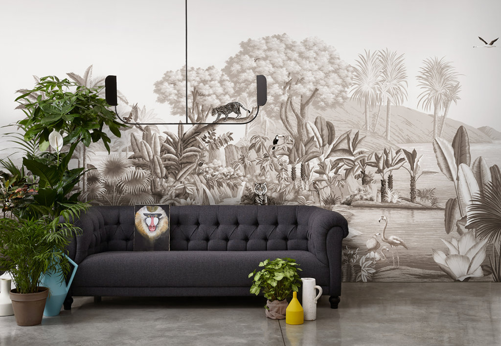 Printed wallpaper Brunaille colour