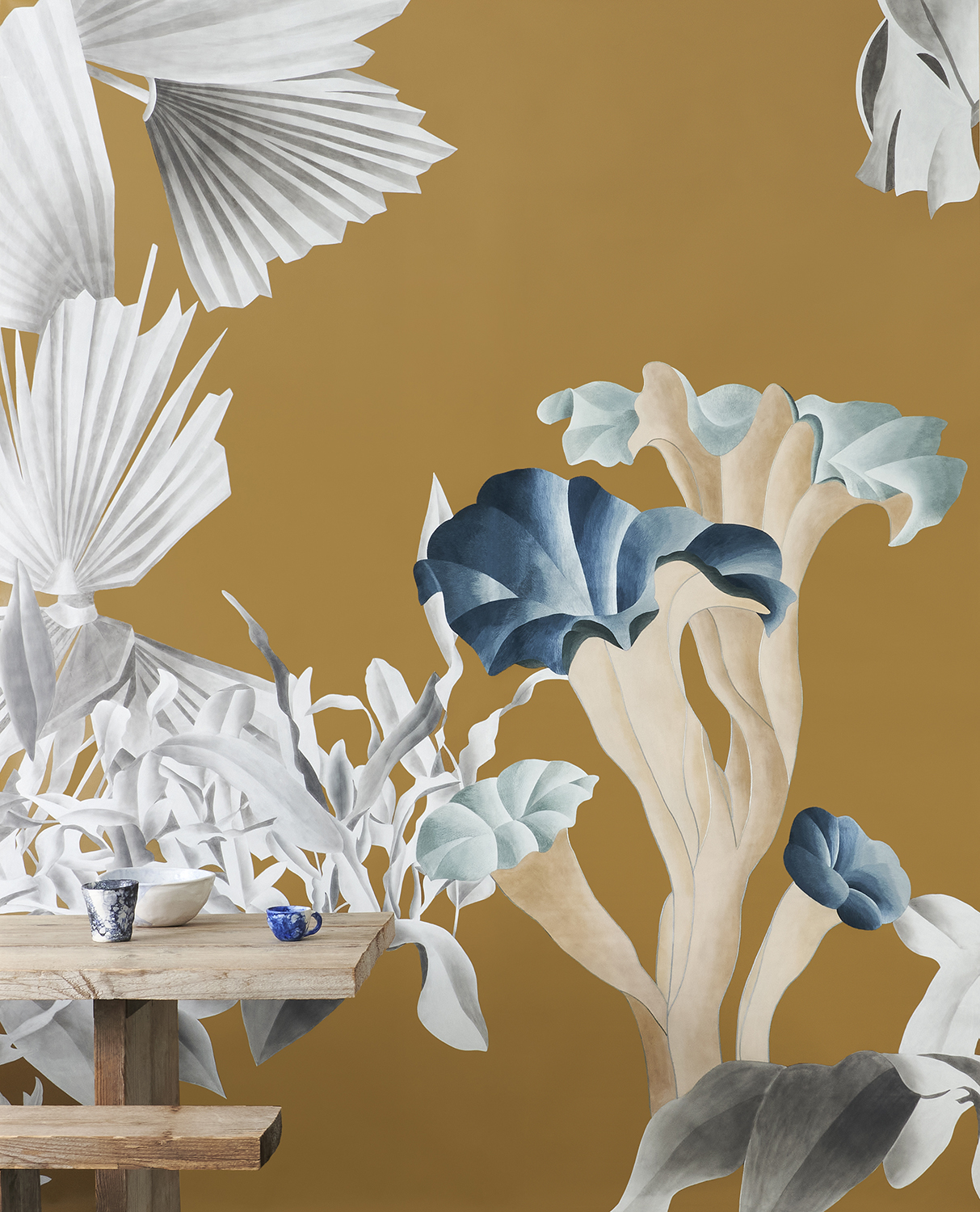Still life picture by Davide Lovatti formosa wallpaper with hand painted and embroidery details